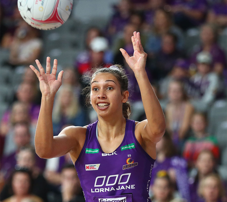 Firebird's player Jemma MiMi passing the ball