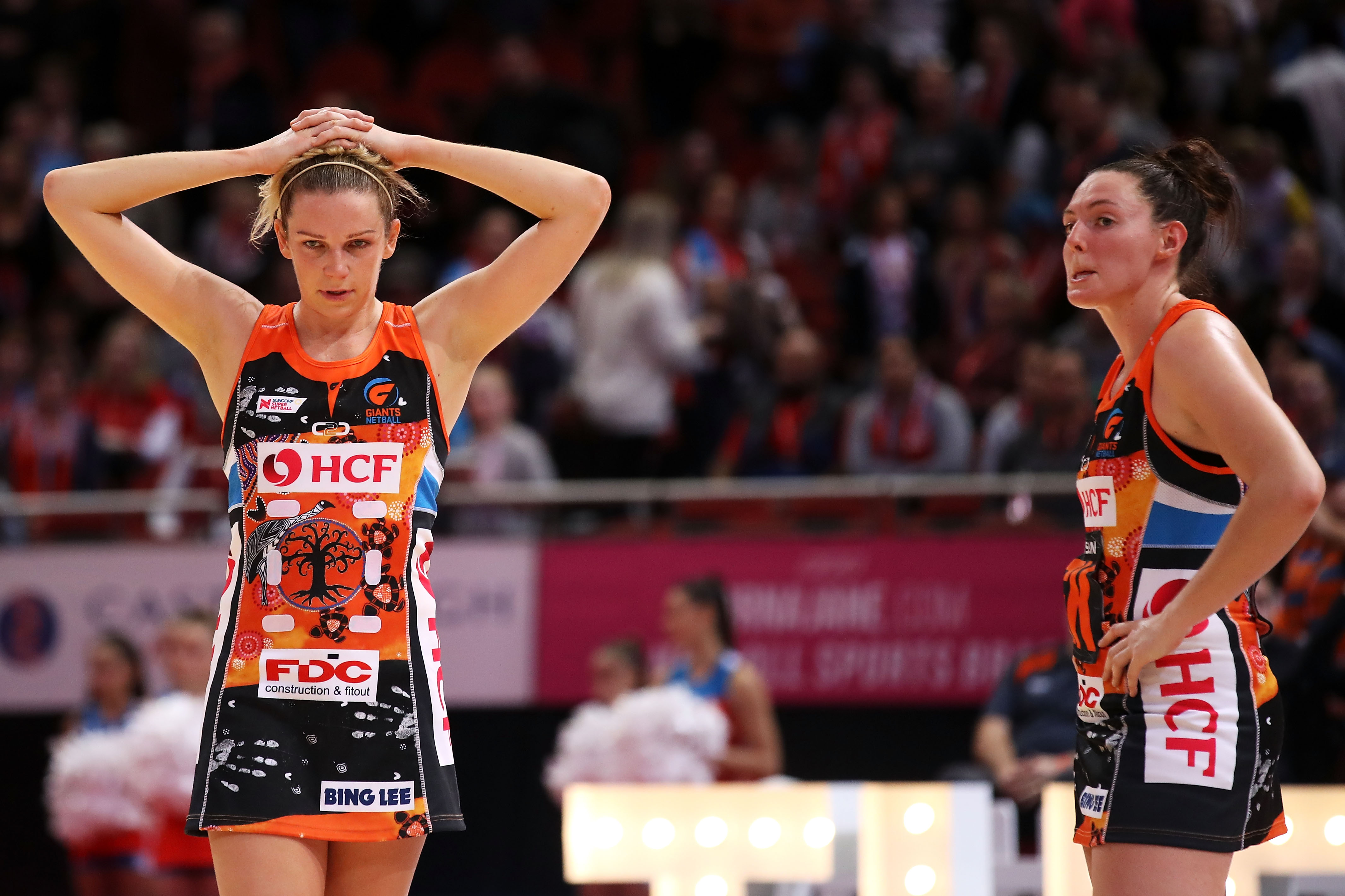 Giants players Jo Harten and Sam Poolman Reflect on their loss