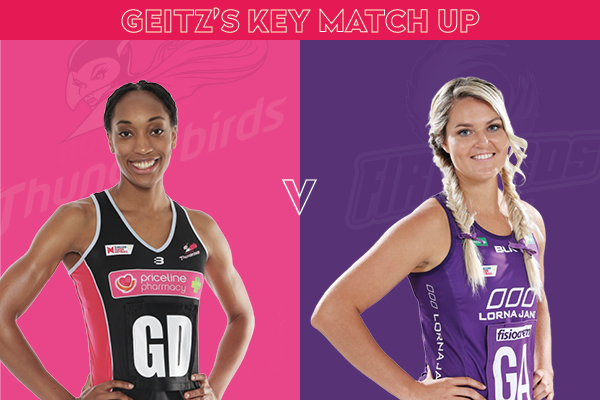 Thunderbirds and Firebirds Key Match Up - Layla Guscoth and Gretel Tippett