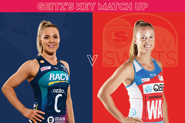 Vixens and Swifts Key Match Up - Kate Moloney and Paige Hadley
