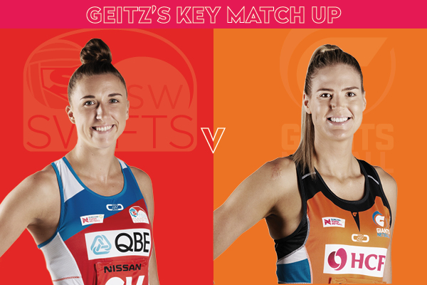 Swifts and Giants Key Match Up - Sarah Klau and Caitlin Bassett