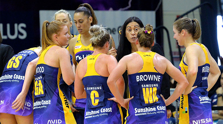 Noeline Taurua with her team Sunshine Coast Lightning