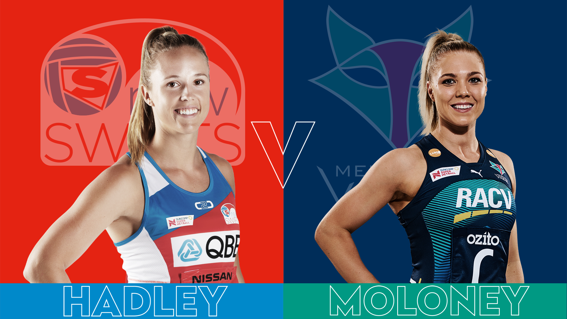 Page Hadley vs Kate Moloney Round 12 Super Netball